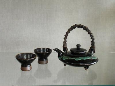 龍門司焼 黒茶家(大・小)