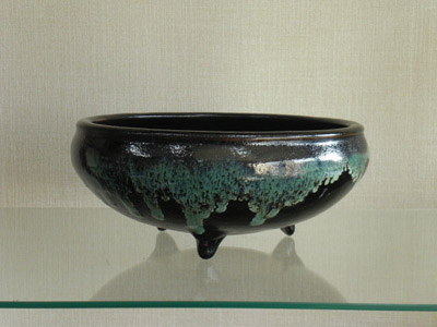 龍門司焼 ソーメン鉢[黒](径26)