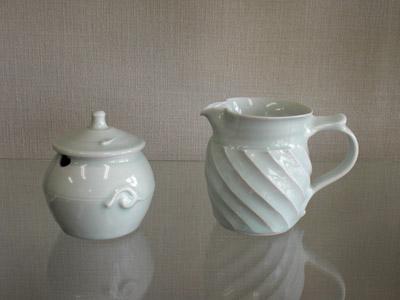 艸茅窯(川野恭和作) 砂糖壺 ピッチャー
