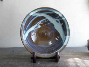 小代焼(ふもと窯) 皿(径24)