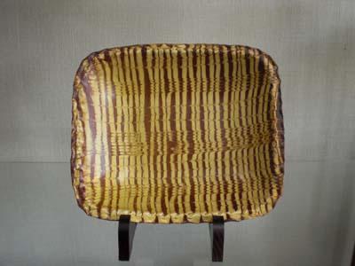湯町窯 角皿(幅28)