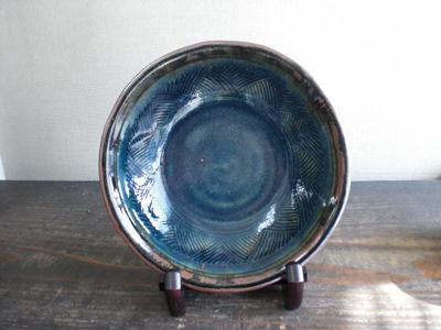 湯町窯 丸皿(径24)